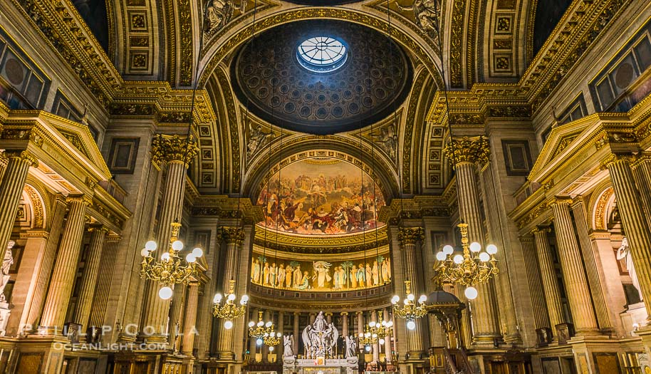 Eglise de la Madeleine, a Roman Catholic church in the 8th arrondissement of Paris, designed in its present form as a temple to the glory of Napoleon's army.