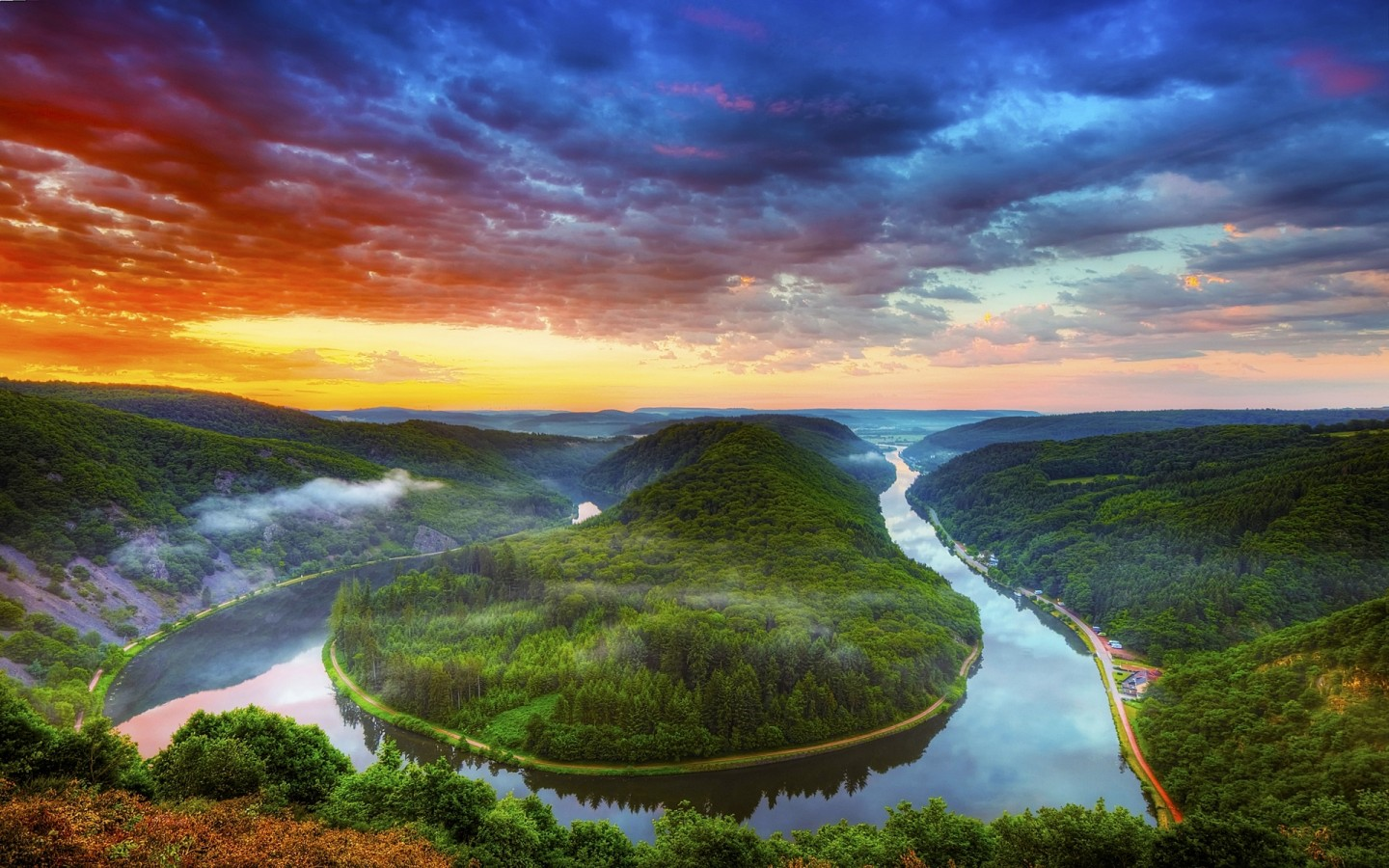 saarschleife-saar-river-mettlach-germany-clouds-sunset-forest-fog-nature