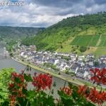 река Мозел, заснета от замъка Райхсбург
